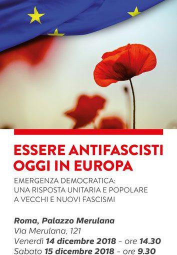 ESSERE ANTIFASCISTA IN EUROPA